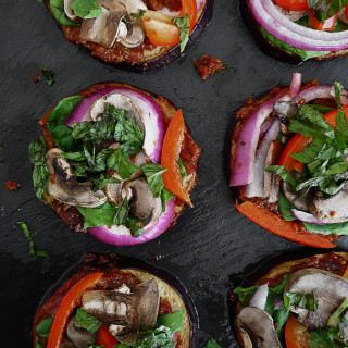 Vegan Eggplant Pizza